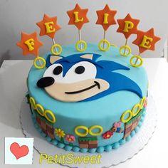 topo de bolo do sonic Sonic Birthday Cake, Sonic Birthday Parties, Sonic Party, Bolo Sonic, Sonic Cake, Sonic The Hedgehog Cake, Hedgehog Birthday, Valentine Cake, Paper Cake