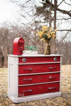 Vintage Chevy Car Dresser by FunCycled www.funcycled.com - just about the most clever furniture makeover I have ever seen!