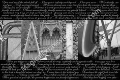 Family letter art photography from Walt Disney World.  It has typography full of quotes about love and family :)  I have this above my fireplace :)
