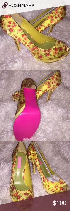 Betsey Johnson vintage yellow rosy heels I don't know that I can let my Rosy collection go. I think in love them more then my pollys. Here's a pair of yellow Rosys that I never wore because I have more than one in every color. 😂 Betsey Johnson Shoes Heels