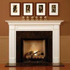 Elegant tiled fireplace
