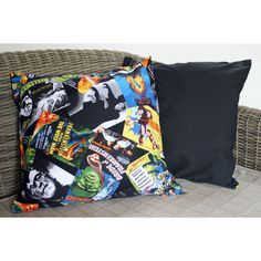 Horror Movie Poster Cushion, Halloween Cushion, Horror Cushion, Movie... ($15) ❤ liked on Polyvore featuring home, home decor and throw pillows