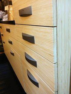 Could you picture these cabinets in your kitchen? All you need is some bamboo plywood!