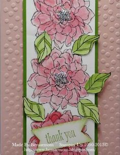 CC457 bensarmom by bensarmom - Cards and Paper Crafts at Splitcoaststampers blushing bride gum ball green+ real red ink