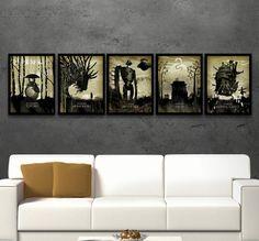 Studio Ghibli Art, Poster Set, Totoro, Princess Mononoke, Castle in the Sky, Spirited Away, Movie Poster, Miyazaki Japanese Art, Minimalist by PosterInvasion on Etsy