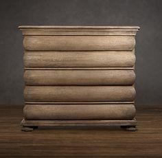 3-Drawer 19th C. Swedish Rounded Oak Dresser