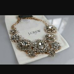 J.Crew crystal statement necklace An explosion of sparkles. This classic J.Crew statement necklace will make you shine at all of those upcoming weddings and galas. In impeccable condition. Does not come with dust bag. The first picture is a stock photo. Price is firm. J. Crew Jewelry Necklaces
