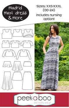 Madrid Maxi Dress & More - Peek-a-Boo Pattern Shop
