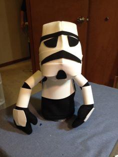 Star Wars stormtrooper puppet. Funny Foam?