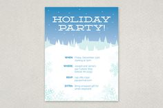 Classic Holiday Party Flyer Template Winter Seasonal Design From