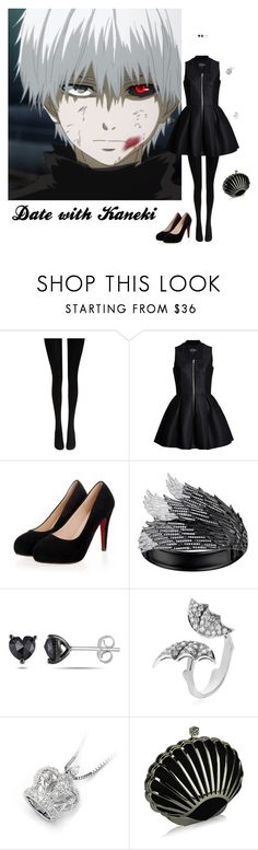 """Date with Kaneki"" by itzelperaltadelacruz ❤ liked on Polyvore featuring Wolford, Lavinia Cadar, AS29, Miadora, Stephen Webster and MaBelle"