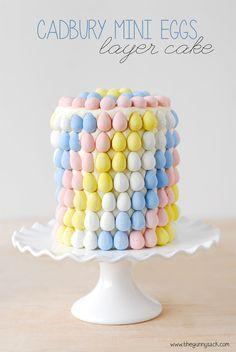 Cadbury Mini Eggs Layer Cake