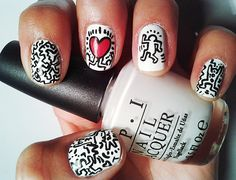 Keith Haring manicure