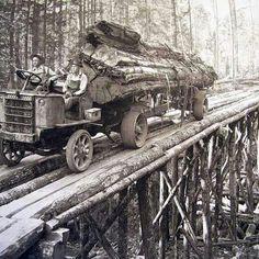 Old logging truck.