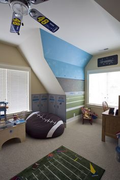 football beanbag for boys room corner WITHOUT the NASCAR fan Please!!! Ugh!