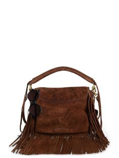 Polo Ralph Lauren Fringed Suede Saddle Bag - Polo Ralph Lauren Shoulder Bags & Backpacks - Ralph Lauren Germany