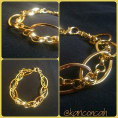 Bracelet golden pulseira dupla dourada com corrente by @kariconcah #semfiltro #pulseiras