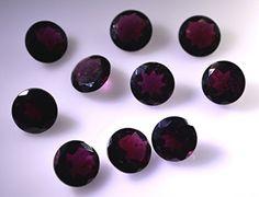 Granat Edelsteine ??1 St�ck 10 x 10 mm runden roten facettierten Edelstein