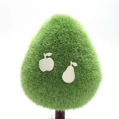 Apple and Pear Fruit Studs, .925 Sterling Silver, Handmade by Ginny Reynders - by gogingin on madeit