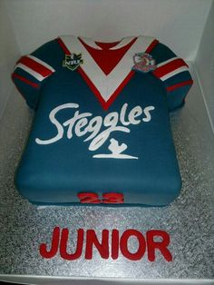 Nrl roosters Cake Pics, Cake Pictures, Sugar Art, Roosters, Kobe, Sydney, Christmas Sweaters, Cake Decorating, Cakes