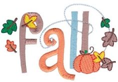 Fall Seasonal Sentiments, SWAK Pack - 2 Sizes! | Fall | Machine Embroidery Designs | SWAKembroidery.com Bunnycup Embroidery