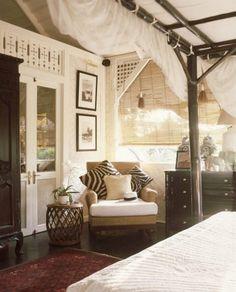 Decoración colonial y étnica West Indies Decor, West Indies Style, British West Indies, British Colonial Bedroom, British Colonial Style, French Colonial, British Bedroom, Home Living, Living Spaces