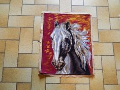 Your place to buy and sell all things handmade Horse Gifts, Needlepoint Canvases, Tapestries, French Vintage, Moose Art, Corner, Scene, France, Crafty