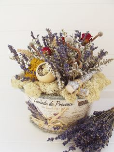 Southill Park Lavender & Roses Dried Flowers, Silk Flowers, Lavender Roses, Silk Flower Arrangements, Handmade Decorations, Home Gifts, Baskets, Park, Dry Flowers