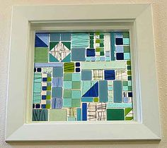 window from glass tiles