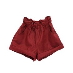 High Waist Rolled Cuffs Mini Shorts (€13) ❤ liked on Polyvore featuring shorts, bottoms, loose fit shorts, mini shorts, high rise shorts, high-rise shorts and high-waisted shorts