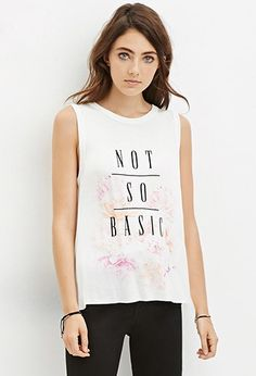 themakeovermom  The Makeover Mom  Fall 2015 Color Fashion Trends  Not So Basic Graphic Tank | Forever 21 - 2000147040