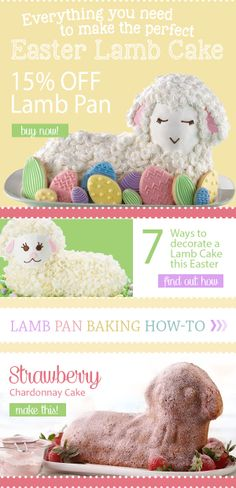 Have you tried making the classic Lamb Cake before? It's easy with our 3D Lamb Pan which is 15% off today (4/8) only!
