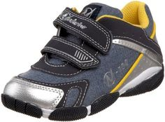 """Naturino Sport 100 Sneaker (Infant/Toddler/Little Kid),Argento/Jeans (400),24 EU (8-8.5 M US Toddler) Naturino. $55.95. Synthetic and fabric. Rubber sole. Removable leather insole. Exclusive""""Sand Effect"""" technology. Made in China. Flexible outsole. Padded tongue and collar"""