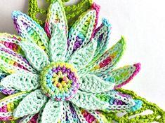 Crochet Brooch Fiber Brooch Irish Crochet Pin by Nothingbutstring, $30.00