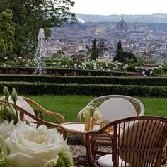 The Italian Garden over Florence, Italy  Cocktail over the city