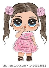 Find Lol Doll Design Baby Tshirt stock images in HD and millions of other royalty-free stock photos, illustrations and vectors in the Shutterstock collection. Thousands of new, high-quality pictures added every day. Doodles Bonitos, Girl With Purple Hair, Chibi Kawaii, Paper Dolls Printable, Cute Doodles, Lol Dolls, Little Doll, Portrait Illustration, Baby Disney
