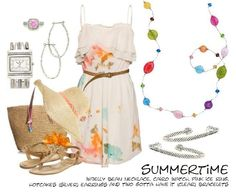 light fabrics and colors for hot days...