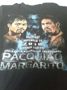 2010 World Championship Pacquiao PacMan vs Mararito fight t shirt size L, Dallas #Montana