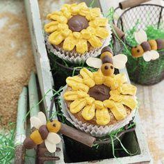 Sonnenblumen-Cupcakes Rezept | Küchengötter