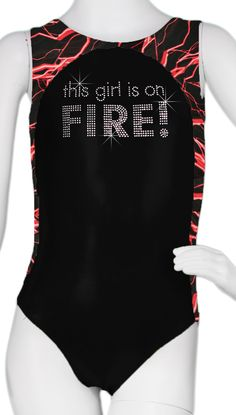 Red Girl on Fire Leotard #leotards #leotard #gymnastics #gymnast #girlonfireleotard
