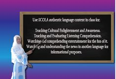 Attention teachers! Are you looking for foreign language resources for your classroom? Contact SCOLA for a free trial today: www.scola.org