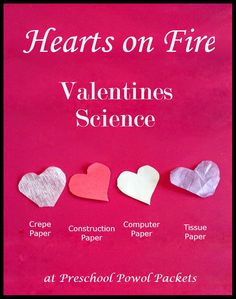 Hearts on Fire Valentines Science Experiment | Preschool Powol Packets
