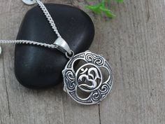 Silver OM Necklace Sterling silver Om jewelry by LifeOfSilver