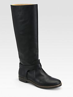 MM6 Maison Martin Margiela Leather Knee-High Riding Boots
