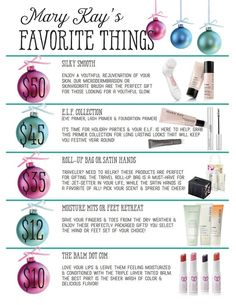 Mary Kay Holiday ideas http://www.marykay.com/Liz.corwine
