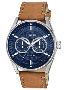 1d0ebf024af Citizen Eco-Drive Leather Mens Watch BU4020-01L