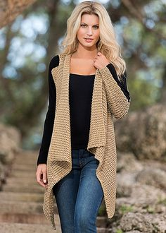 love the textures...and of course a tan sweater is a fave.