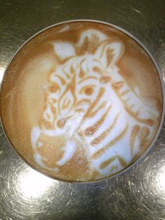Zebra Latte Art...Ashley Koscheski