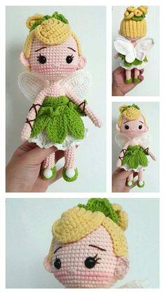 Knitting Dolls Free Patterns, Knitted Dolls Free, Doll Amigurumi Free Pattern, Crochet Disney, Crochet Amigurumi Free Patterns, Amigurumi Doll, Crochet Pony, Crochet Teddy, Crochet Crafts