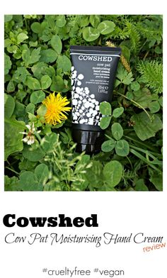 Cowshed Cow Pat Moisturising Hand Cream review.  Cow Pat Moisturising Hand Cream is 100% vegetarian and cruelty free hand cream made in England. via @beautybymissl